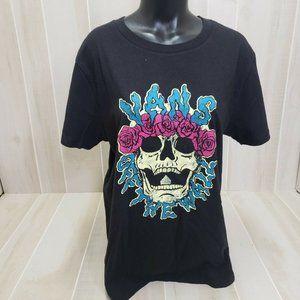 VANS Womens Shirt X-Large Logo Black Brancho Skull